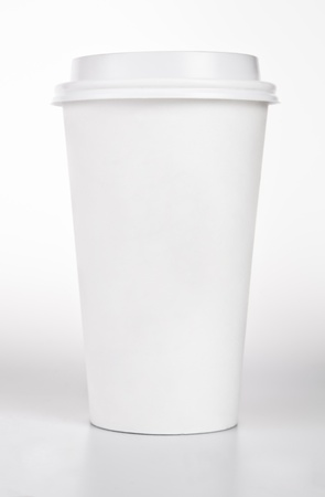 cup: White blank Coffee Paper Cup