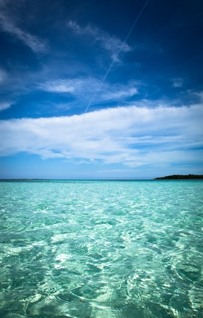 Beautiful Natural tropical ocean landscape with a blue sky