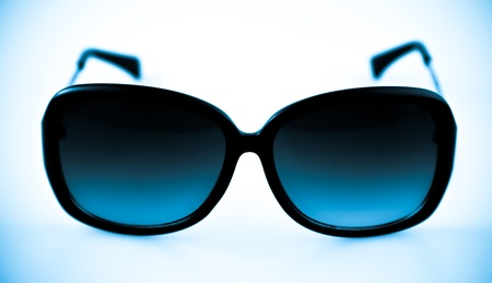 Cool Blue Fashion Sunglasses with a plastic frame photo