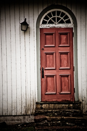 retro: Old vintage wooden door with nobody