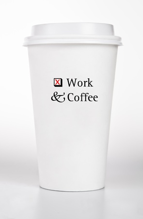 White  Coffee Paper Cup With Text Concept