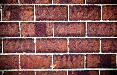 Close up of a red brick wall Banco de Imagens