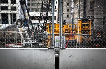 Urban Construction Site with nobody Banco de Imagens