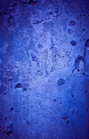 Cracked rough blue concrete texture with nobody