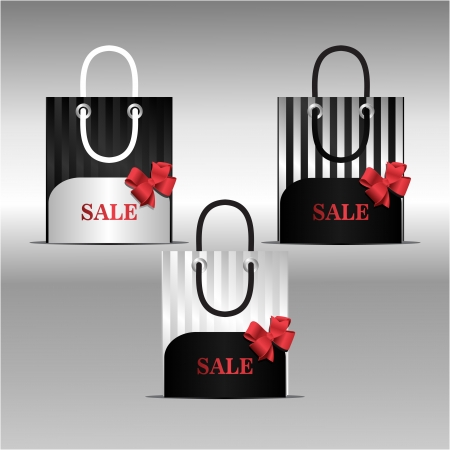 simpotichnye black and white bags for sale in the shops Stock Vector - 17007403