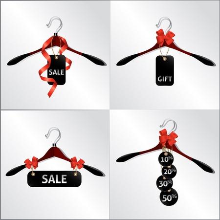 hanger design, emblem, sale in the shop Stock Vector - 17375915