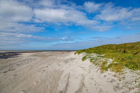 Howmore beach on the Hebridean Island of South Uist, on a sunny late summers day
