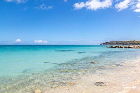An idyllic beach on the Caribbean Island of Antigua