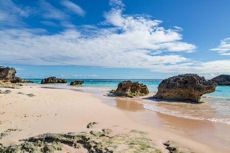 Beautiful Horseshoe Bay beach on the island of Bermuda