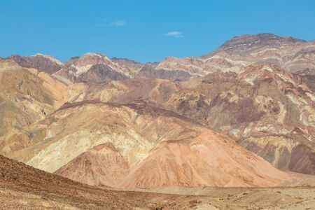 Colorful rock formations along Artist's Drive in Death Valley National Park