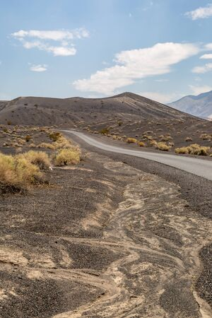 A road in Death Valley, near the Ubehebe Crater