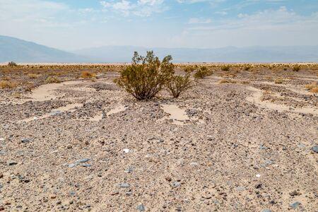 A barren landscape in Death Valley National Park, California