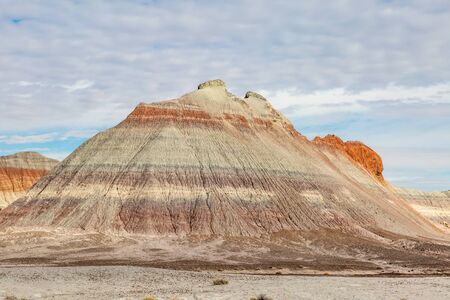 A colourful rock formation in the Painted Desert, Arizona