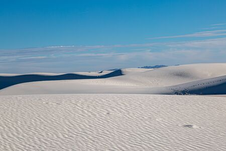 Light and shade on the sand dunes, at White Sands National Monument in New Mexico