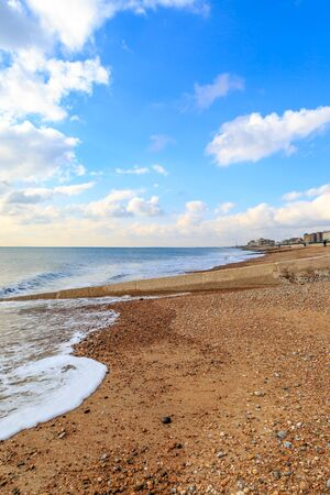 A view along Brighton Beach, looking towards Hove and Shoreham