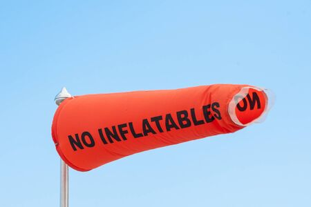A NO INFLATABLES Sign