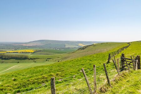Looking out over the South Downs, from Firle Beacon, in Sussex