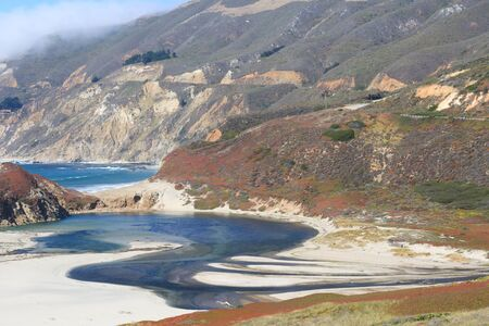 A View at Big Sur in California