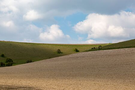 A rural South Downs landscape on a sunny spring day Stock fotó