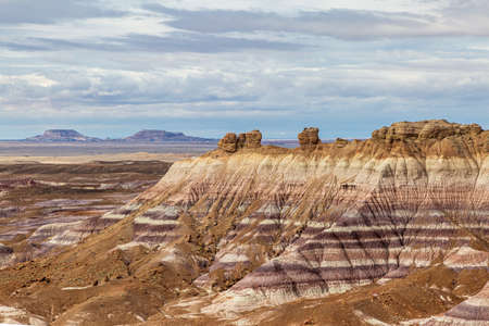 Looking out over the vast landscape of the Painted Desert in Arizona