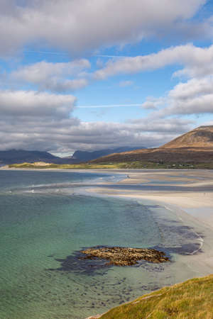 Looking over Seilebost Beach towards Luskentyre, on the Isle of Harris in the Western Isles
