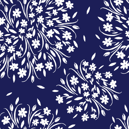 vector modern floral seamless pattern. This pattern can be used for wrapping paper, wallpaper, cover, textile design, fabric design.