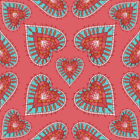 colorful heart: vector colorful heart seamless pattern