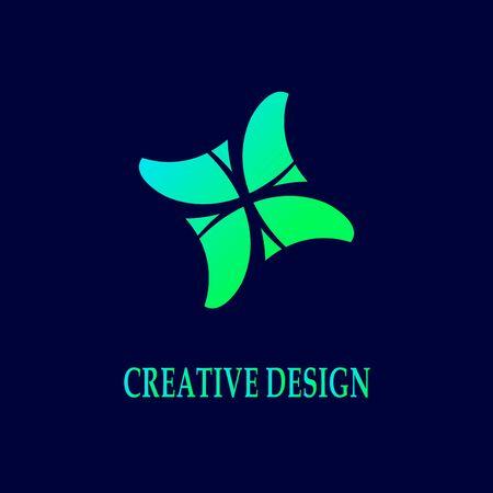 colorful crack curved square unique vector design