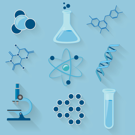 isoler: Laboratory workspace and elements vector icons. isolate