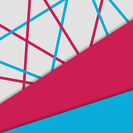 material: Material design background. Geometrical color objects template Illustration