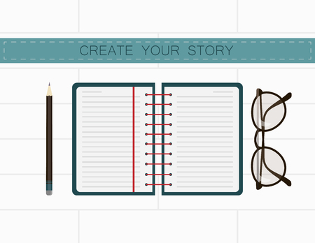writer: Writer workplace. You can create your story in notes