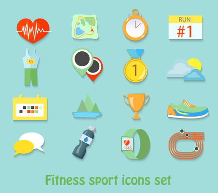 weight loss man: running fitness sport icons. Healthy life sets