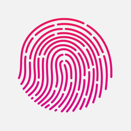 circle touch fingerprint id app illustration isolated Vektorové ilustrace