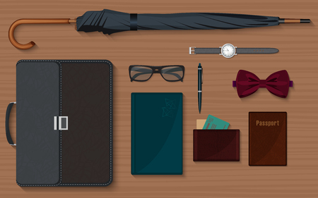 englishman: Gentlemen stuff design elements collection set isolated Illustration