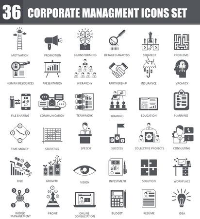 Vector Finance black icons set. Dark grey symbols on white background