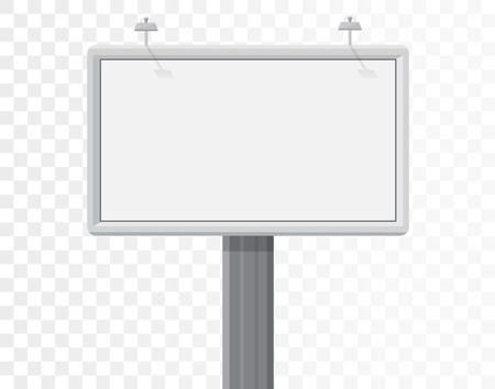 billboard isolated on the alpha white background.