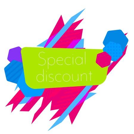 Limited Offer Mega Sale banner. Sale poster. Big sale, special offer, discounts Vector illustration