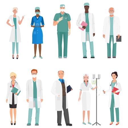 病院の医療スタッフの医師。医師や看護師のグループを設定します。