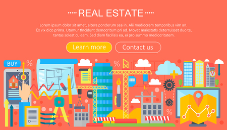 Real Estate Design Concept Set With Online Search Apartment Rental Market  Buying Flat Icon Infographics Template