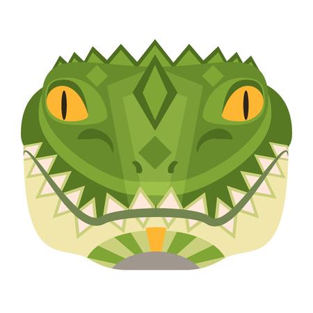 Crocodile Head Logo. Alligator vector decorative Emblem.