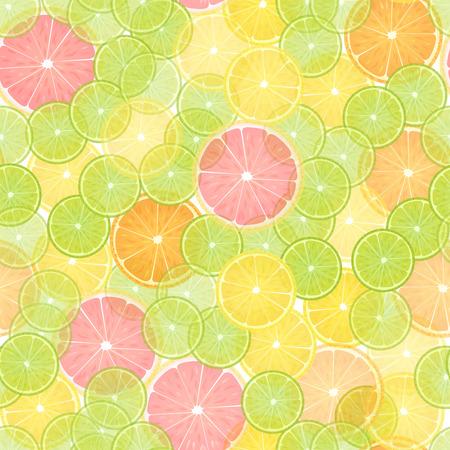 カラフルな柑橘系レモン シームレス パターン。