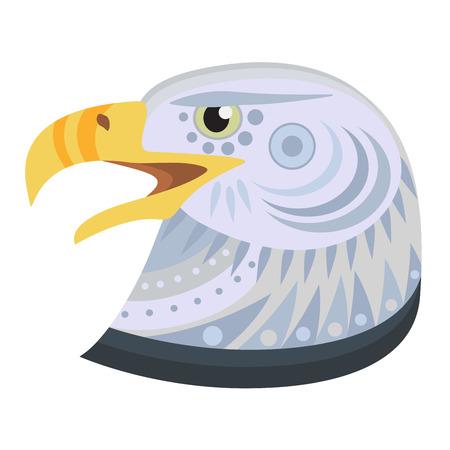 Bald eagle head Logo. Vector decorative Emblem.