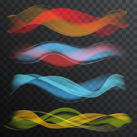 Abstract smooth Wave on the transperant alpha background. Vector Illustration. Banco de Imagens - 79408971