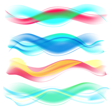 Abstract Colored Wave set vector Illustration. Illustration
