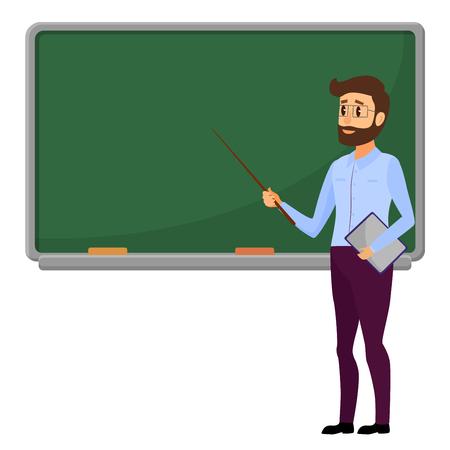 Young teacher illustration. Stock Illustratie