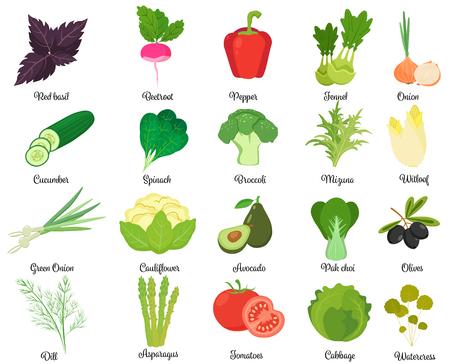 Set of tasty vegetables.