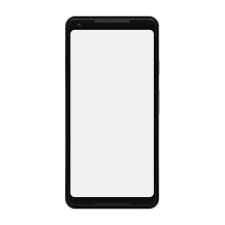 Vector of modern smartphone isolated. Mobile phone with blank screen. Cell phone mock-up design.
