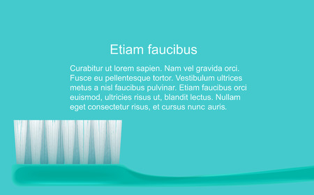 Dental concept. Toothbrush isolated. Flat design, health tooth care. Vettoriali
