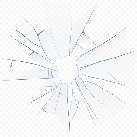 ベクトル割れ透明アルファ背景上のリアルなガラスを砕いた 写真素材 - 99326132