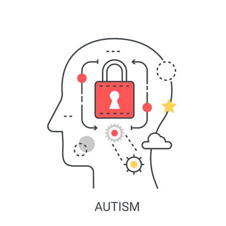 Autism vector illustration concept.